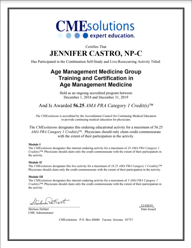 certificate of completion from CMEsolutions